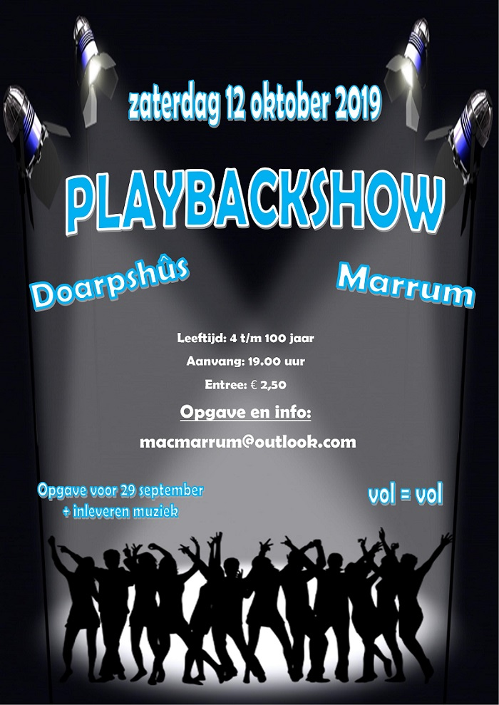 Playbackshow Flyer12 10 2019